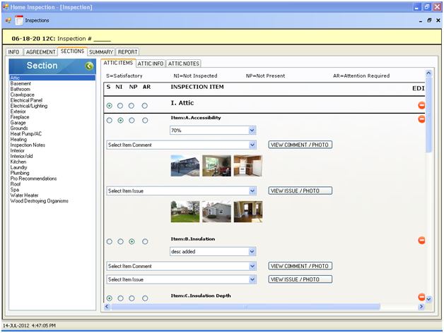 online inspection pc companion software developed in asp